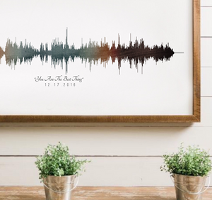 Personalized Soundwave Art, Art of Sound, One Year Anniversary Gifts for Him | PAPER