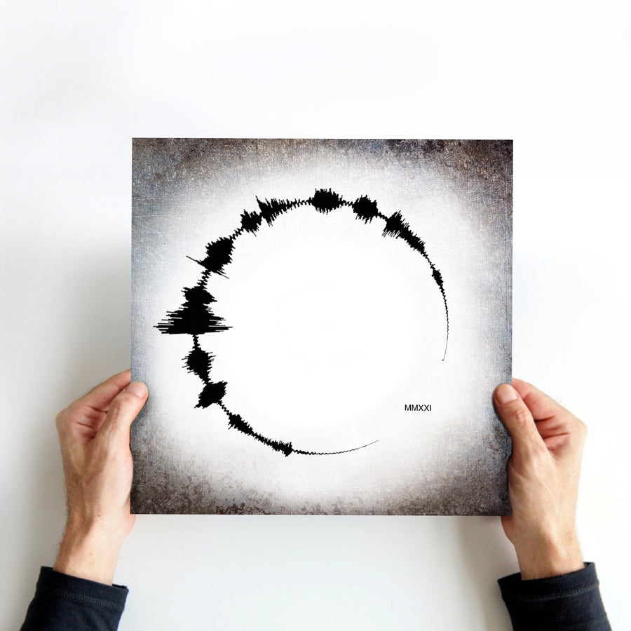 Spiral Metal Sound Wave Print, Aluminum Ten Year Anniversary Gift, Soundwave Art Print| METAL
