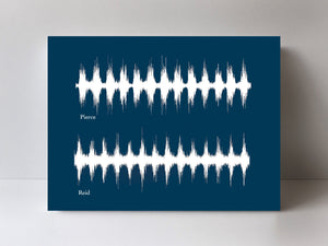 Multiple Voices Sound Art on Cotton Canvas | CANVAS