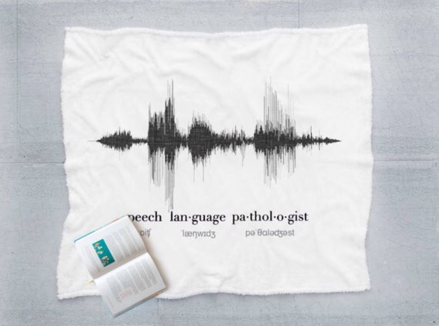 Speech Therapist Gift, Sound Wave Blanket for SLP | BLANKET
