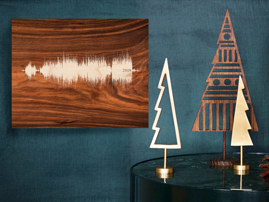 Personalized Christmas Gifts, Wooden Sound Wave Art Designs | WOOD