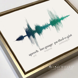 Speech Language Pathologist Gift Idea, Sound Wave Art Print |Pre-Made
