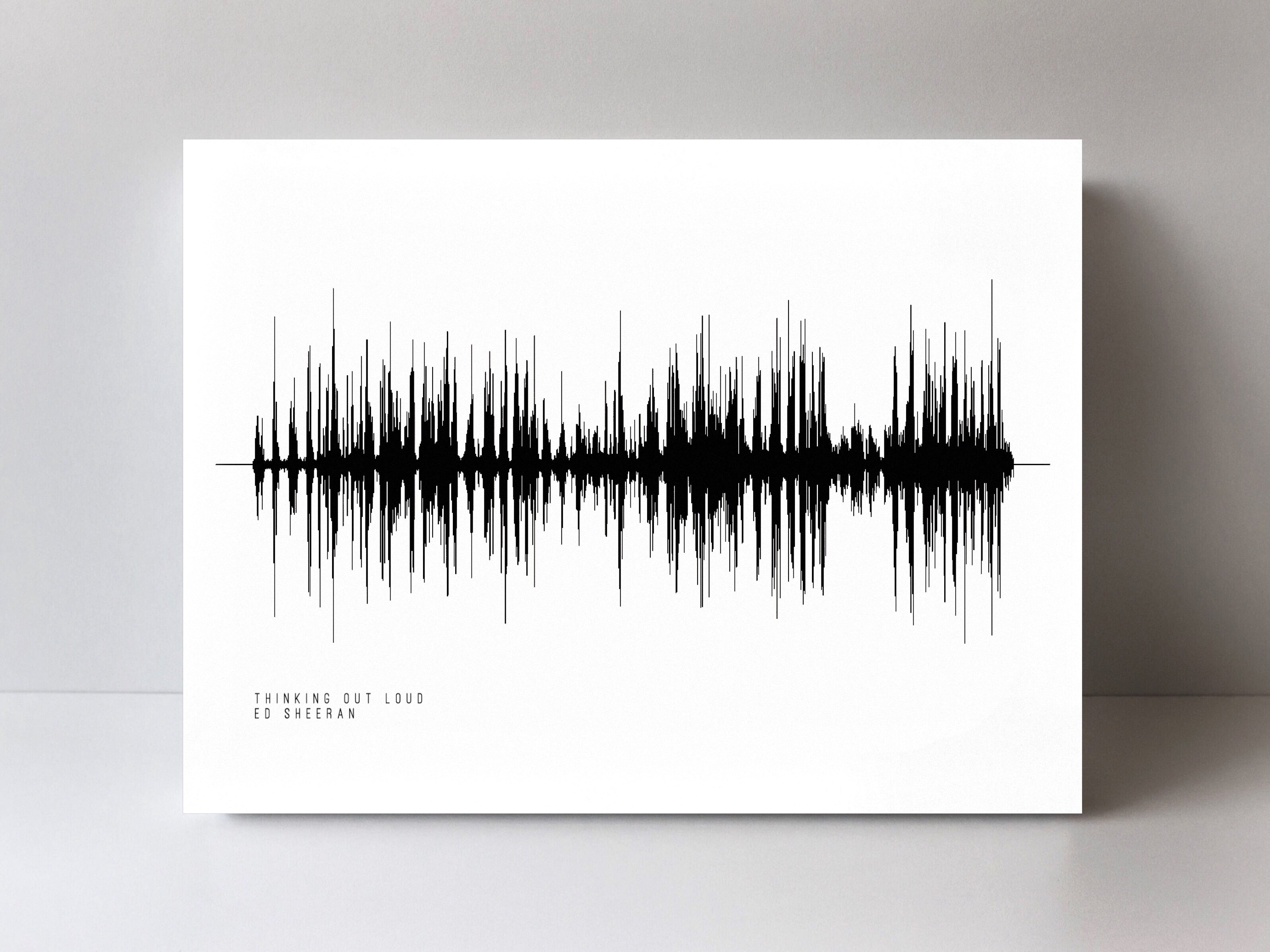 Thinking Out Loud by Ed Sheeran Sound Wave Art Print, Pre-Made Sound ...