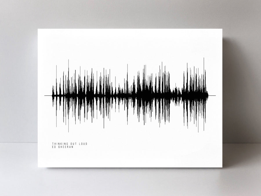 Thinking Out Loud Soundwave Print