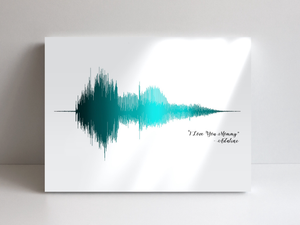 Acrylic Glass Sound Wave Print | Glass