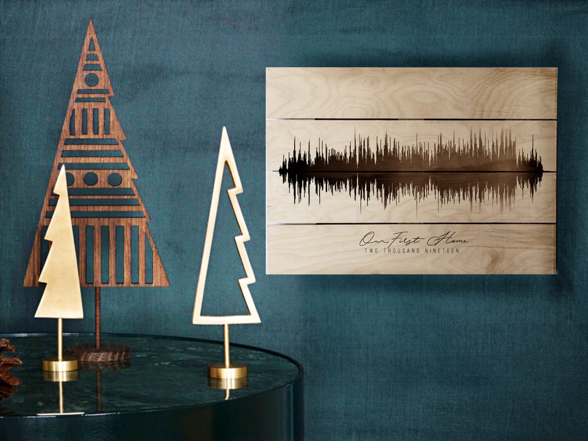 Wooden Pallet Sound Wave spring, Rustic Christmas Gift Idea | PALLET