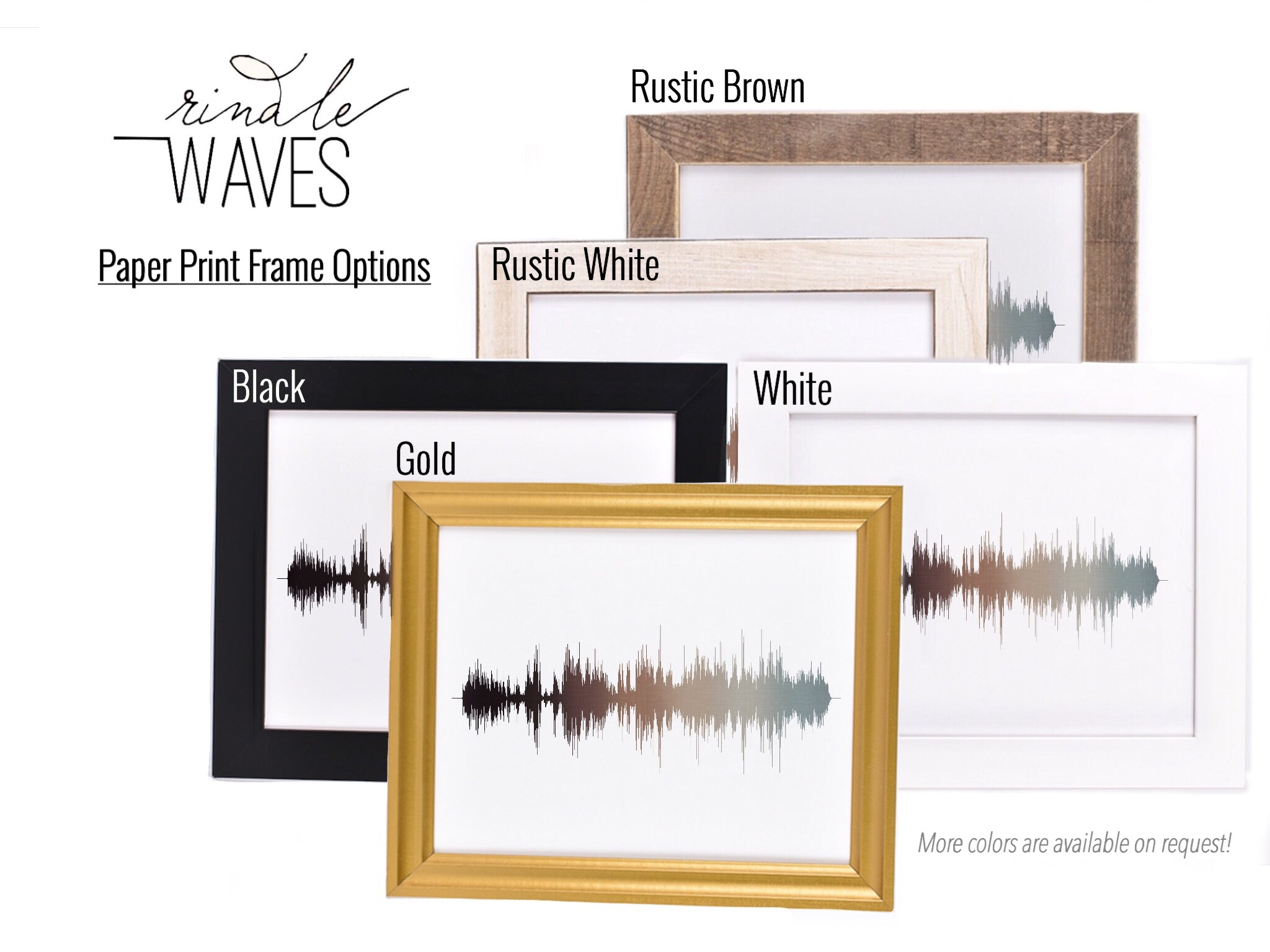 Personalized Soundwave Art Art Of Sound One Year Anniversary Gifts