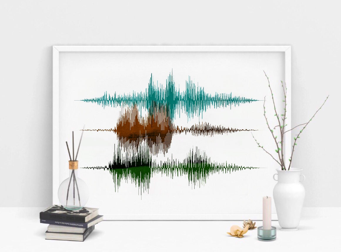 Layered Sound Wave Art Custom Art Print, Multiple Voices | PAPER