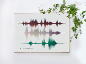 Multi Line Sound Art on Cotton Canvas | CANVAS