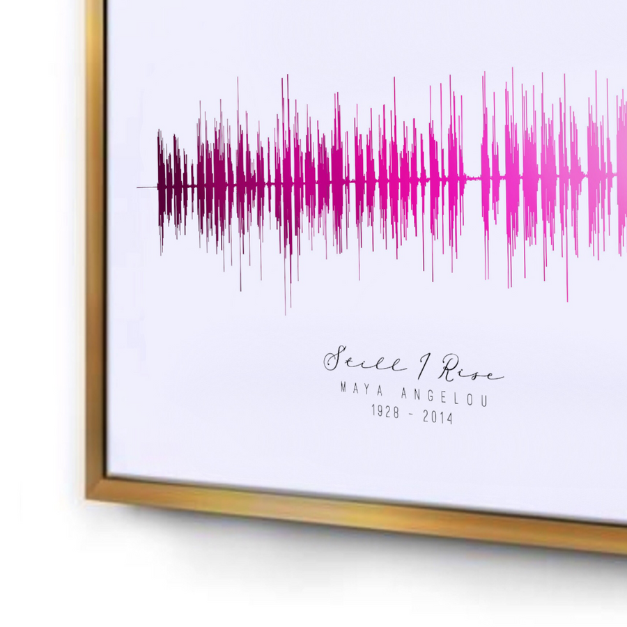 Still I Rise by Maya Angelou Sound Wave Art Print Poem, Soundwave Poem | PREMADE
