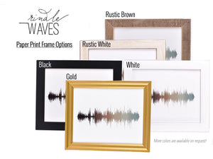 Family Name Sign, First Year Anniversary Gift, Layered Sound Wave Art Custom Art Print | PAPER