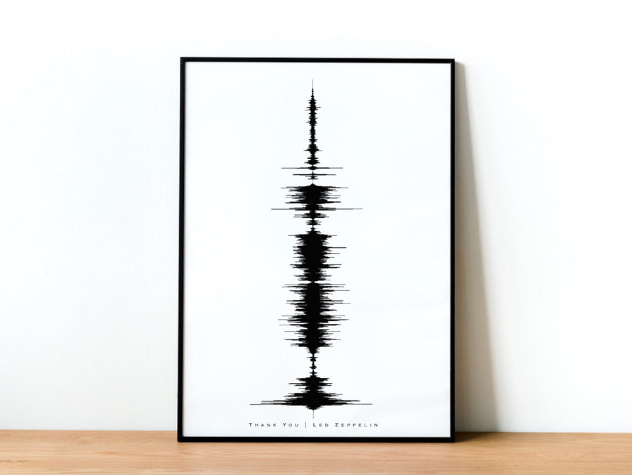Custom Large Scale Soundwave Art, Extra Large Canvas Print | LARGE SCALE CANVAS