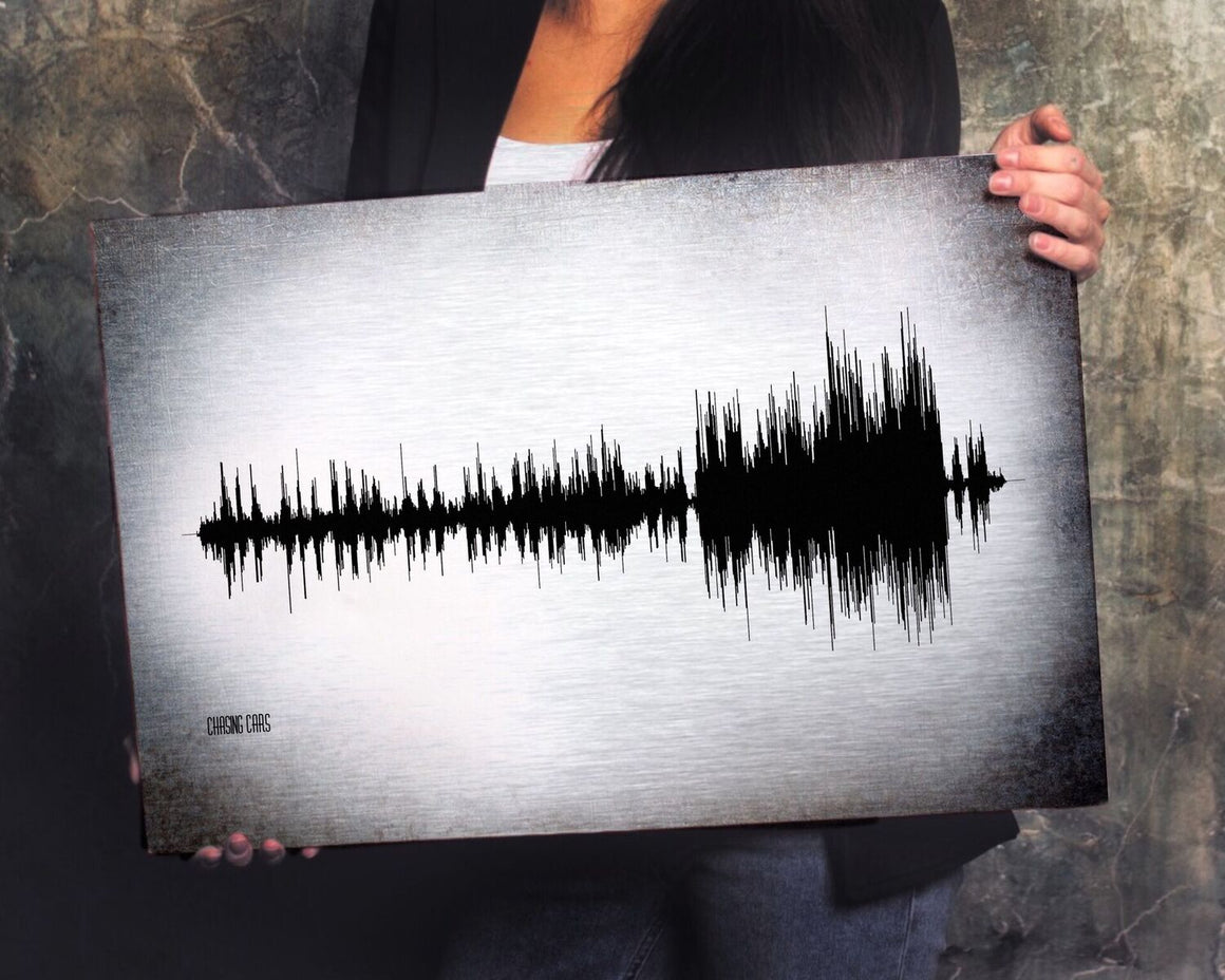 In Remembrance of You, Memorial Sound Wave on Metal, In Memory of Sound wave on Aluminum | METAL