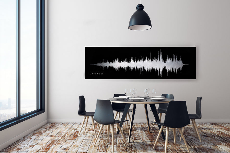 Ultra Modern Style, Narrow Look Sound Wave Art Print | PAPER/CANVAS