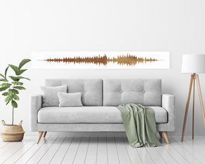 Narrow Style Sound Wave Print, Ultra Modern Style Soundwave Art | PAPER/CANVAS