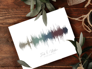 2nd Year Anniversary Gift Idea, Sound Wave Canvas Art Print | CANVAS