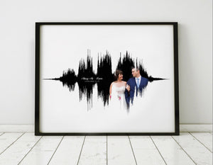 Personalized Romantic Gift Idea, Sound Wave Prints on Canvas | CANVAS