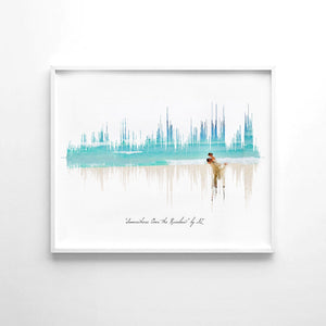 Soundwave Print Modern Art Print, First Anniversary Gifts, 1 Year Anniversary Gift | PAPER