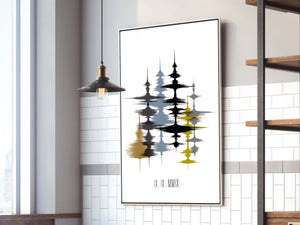 Family Forest, Layered Voice Print, Sound Art on Cotton Canvas | CANVAS