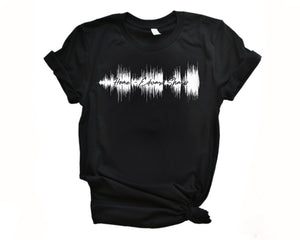 Personalized Sound Wave Shirt Print | Sound Wave Shirt