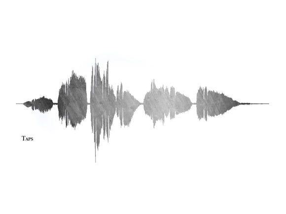 Taps Sound Wave Art Print, Patriotic Decor, Pre-Made Sound Wave Print