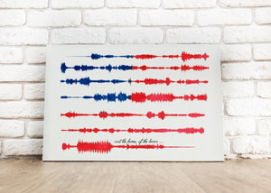 National Anthem Art Print, USA Anthem, Pre-Made Sound Wave Print