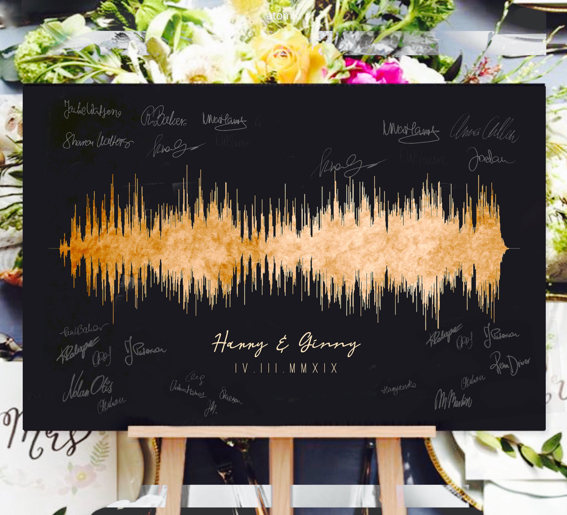 Guest Book Idea, Custom Guest Book Canvas | CANVAS