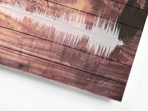 Wooden Pallet Art Print, Wooden Gift Idea, Sound wave on Birch Wood | WOOD Pallet