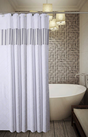 Sub Category: Quilted Mirror Shower Curtain