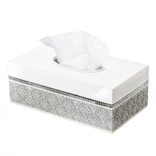 Mirror Damask Tissue Box (rectangle)