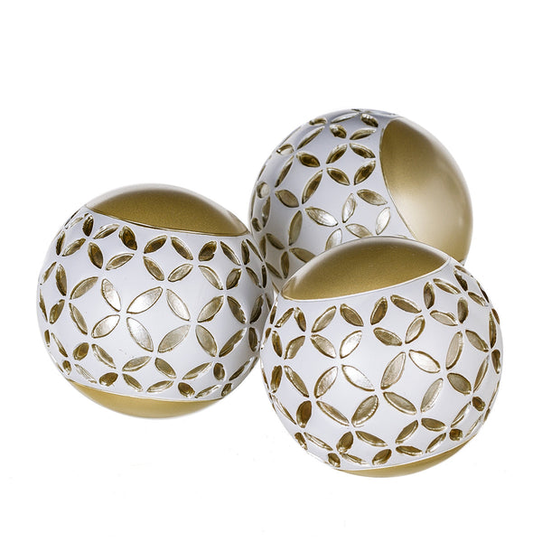 Schonwerk Decorative Orbs, Set of 3 - Diamond Lattice