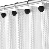 Black 12 Shower Curtain Hooks