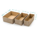 3Pcs Set Decorative Foldable Organizers - Sand Dunes