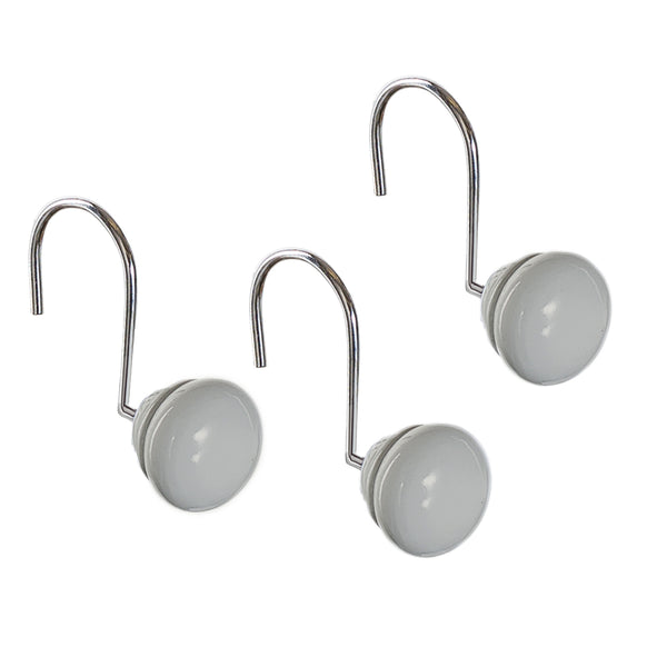 Gray Shower Curtain Hooks