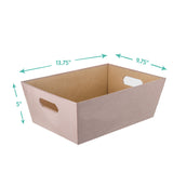 Medium Open Bin, Twilight Linen