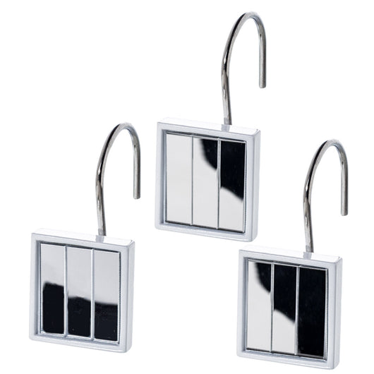 Quilted Mirror 12 Shower Hooks