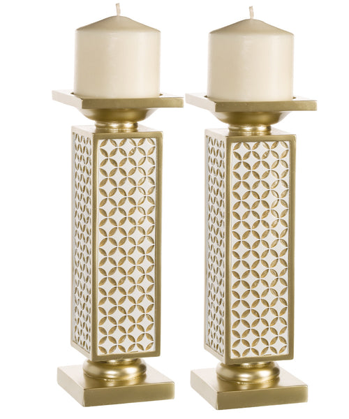 Schonwerk Decorative Candle Holder (set of 2) - Diamond Lattice