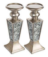 Schonwerk Decorative Candle Holder (set of 2) - Silver