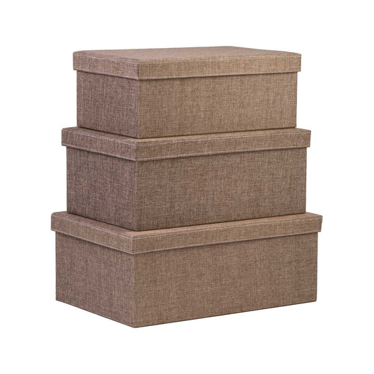 Storage Boxes set of 3, Sand Dunes
