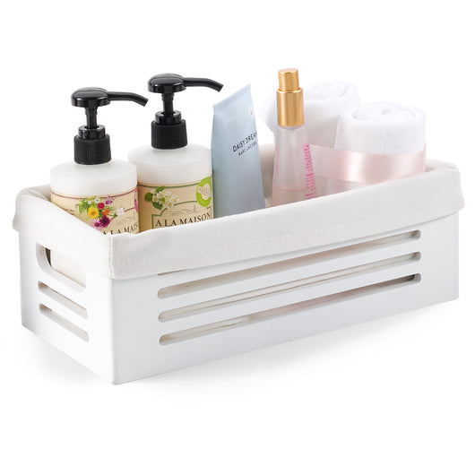 Wooden White Storage Bins - Extra Small