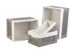 Wooden Gray Storage Bins - Small