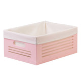 Wooden Pink Storage Bins - Large