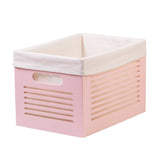 Wooden Pink Storage Bins - Medium