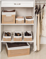 Wooden Tan Storage Bins - Medium