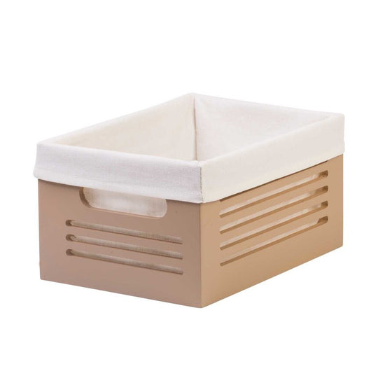 Wooden Tan Storage Bins - Small