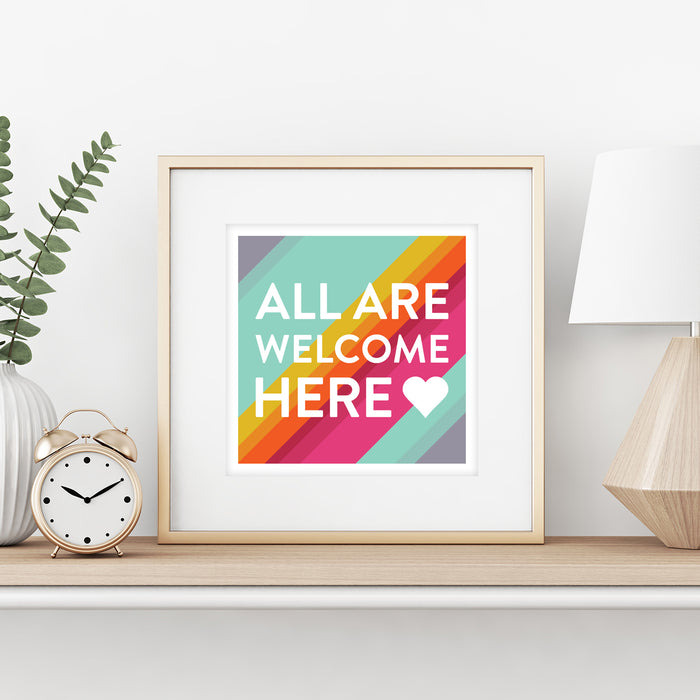 All Are Welcome Here Print