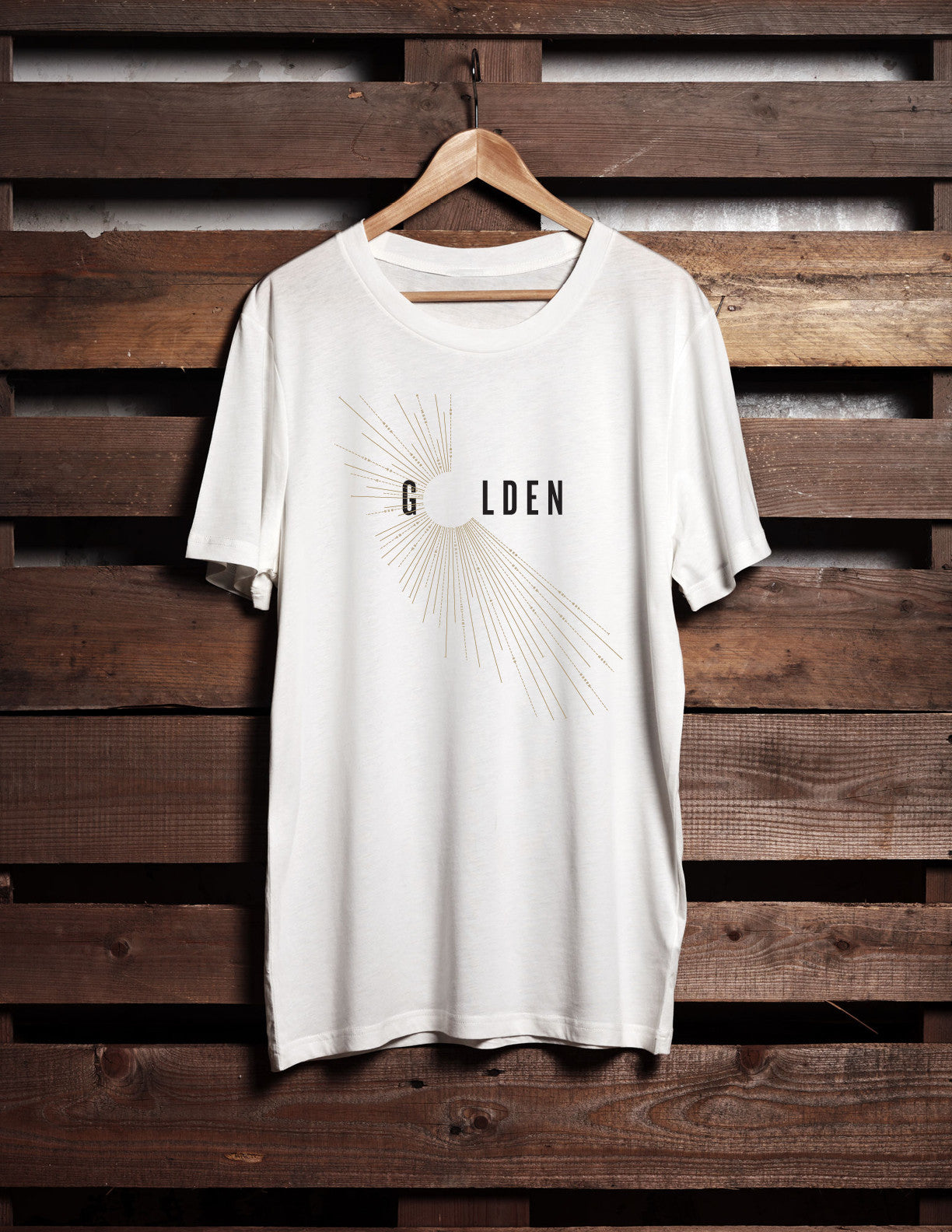 "10 — ""Golden"" T-Shirt (White)"
