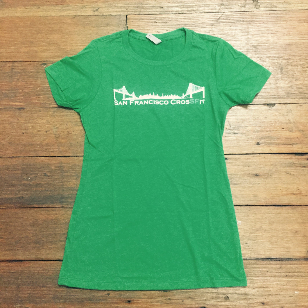 Women's Green/White T - SALE