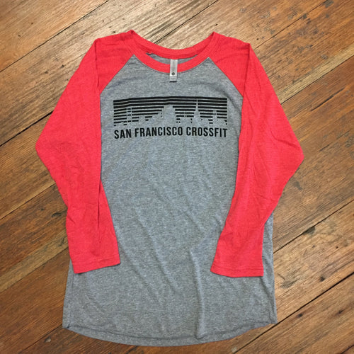 Unisex Red & Gray Baseball T (3/4 sleeve) SALE