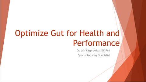 Optimize your gut health for health and performance